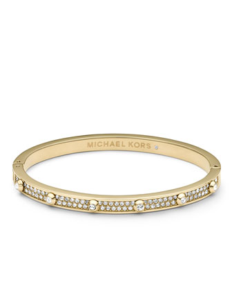 Pave Astor Bangle, Golden