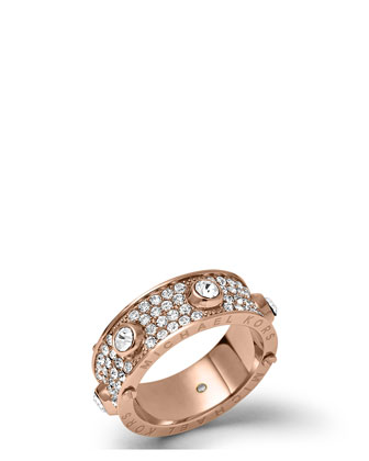 Astor Stud Ring, Rose Golden