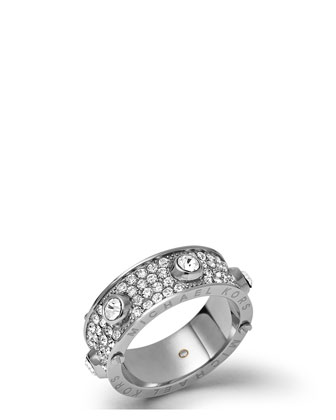 Astor Stud Ring, Silver Color