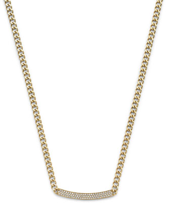 Reversible Logo Necklace, Golden