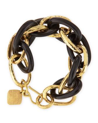 Ndovu Dark Horn & Bronze Bracelet