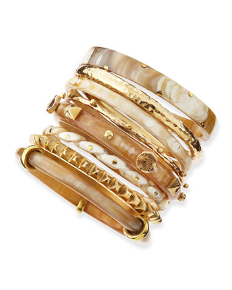 Hazina Light Horn Bangles, Set of 8