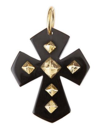 Pembeni Dark Horn Cross Pendant