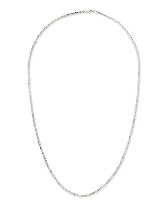 Silver Pyramid Link Necklace, 32