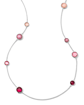 Sterling Silver Wonderland Lollipop Station Necklace, Rio