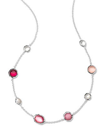 Sterling Silver Wonderland Mini Gelato Short Station Necklace in Rio, 16-18