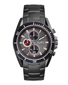 Men's Silver Color Stainless Steel Lansing Chronograph Watch