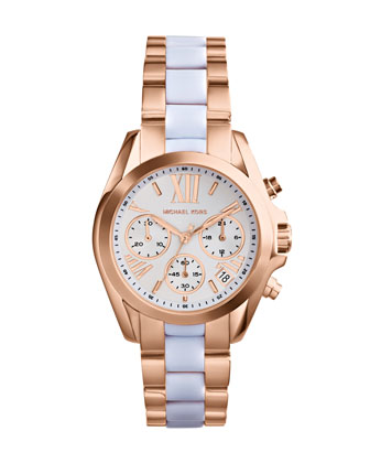 Mini Rose Golden/White Stainless Steel Bradshaw Chronograph Watch