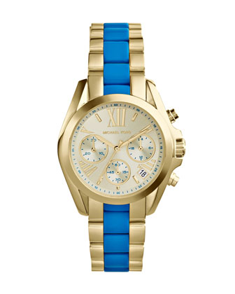 Mini Golden/Turquoise Stainless Steel Bradshaw Chronograph Watch