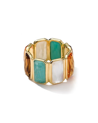 18k Gold Rock Candy Gelato Fancy Rectangle Lollipop Ring