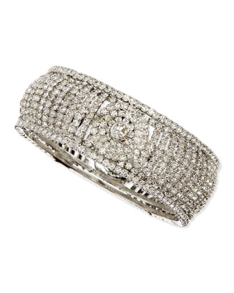White Crystal Bangle