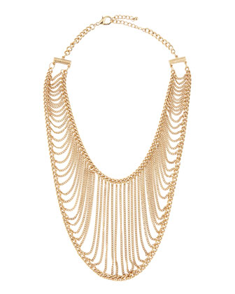 Golden Chain Net Necklace