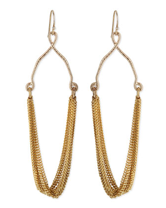 Draped Golden Multi-Rope Earrings