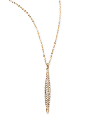 Pavé Oblong Pendant Necklace