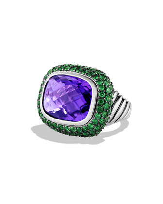 Waverly Ring with Amethyst and Tsavorites