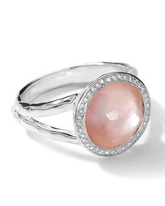 Sterling Silver Stella Mini Lollipop Ring in Pink Mother-of-Pearl ...