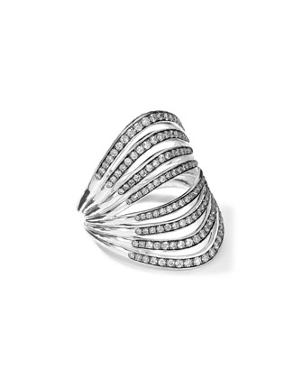 Sterling Silver Multi-Band Ring with Diamonds (0.82ctw)
