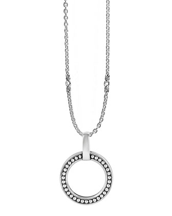 Sterling Silver Enso Circle Pendant Necklace