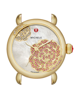 Limited Edition CSX Jardin Gold Diamond-Dial Watch Head & 18mm Blush ...