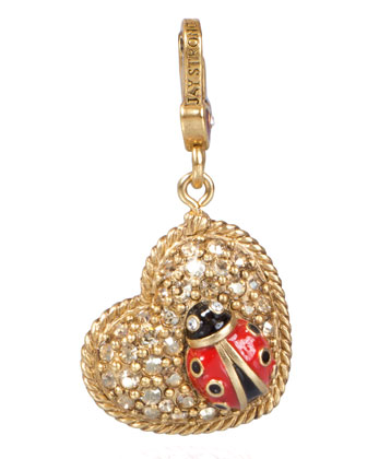 Marla Ladybug Heart Charm