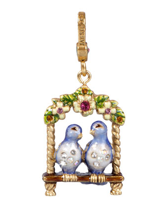 Lucy & Carl Lovebirds Charm