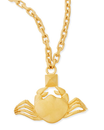 Golden Cancer Zodiac Necklace, 36