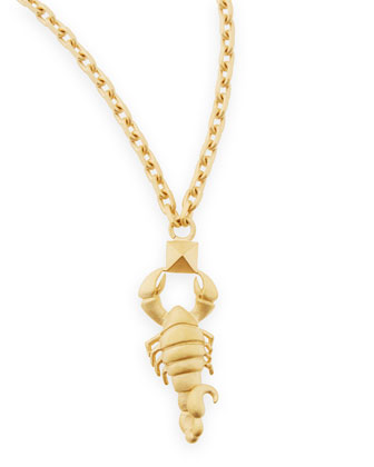 Golden Scorpio Zodiac Necklace, 36