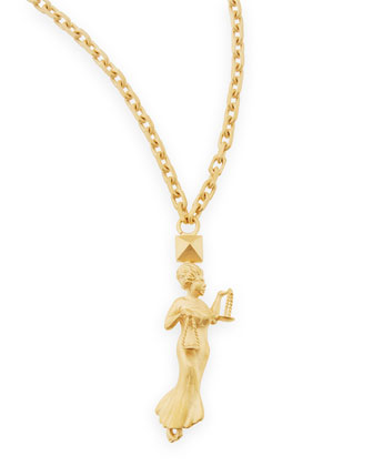 Golden Libra Zodiac Necklace, 36