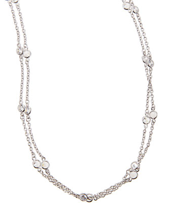 Cubic Zirconia By-the-Yard Necklace, 72