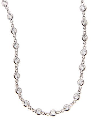 Cubic Zirconia By-the-Yard Necklace, 36