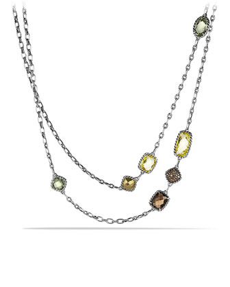 Chatelaine Necklace with Lemon Citrine, Cognac Diamonds, and Gold