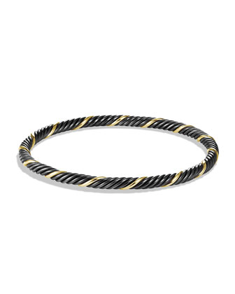 Black & Gold Cable Bangle