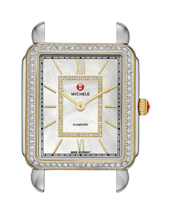 Deco II Two-Tone Diamond Watch Head