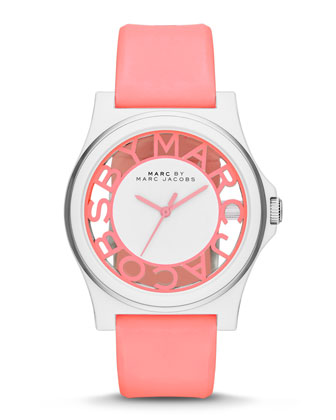 Henry Skeleton Watch, Pink