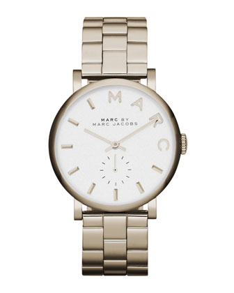 Baker Golden Analog Watch with Bracelet
