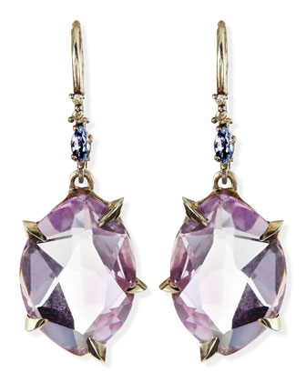 Cool Heather Marquise Amethyst Drop Earrings