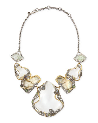 Jardin Mystere Large Vine-Draped Doublet Bib Necklace