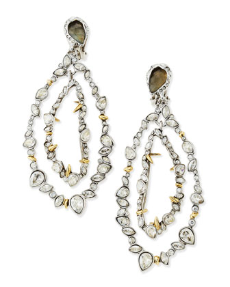 Jardin Mystere Jagged Crystal Frame Orbit Earrings