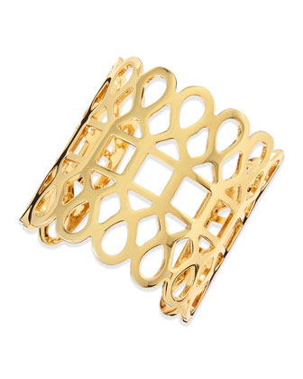 16k Gold-Plated Lace Cuff