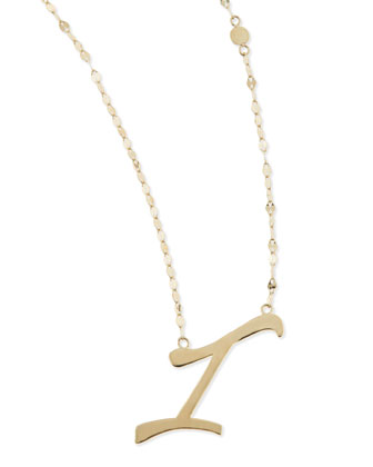 14KT GOLD LETTER NECKLACE, I