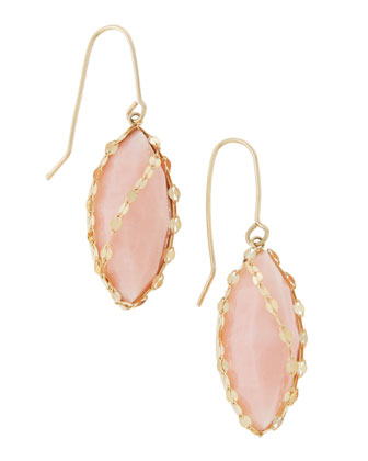 Pink Opal Marquis Earrings