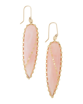 Pink Opal Spike Earrings