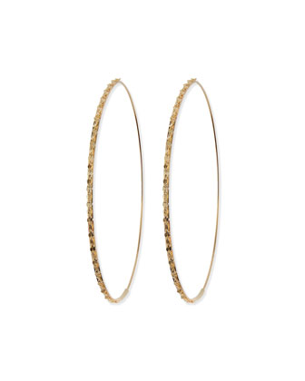14k Large Glam Magic Hoop Earrings
