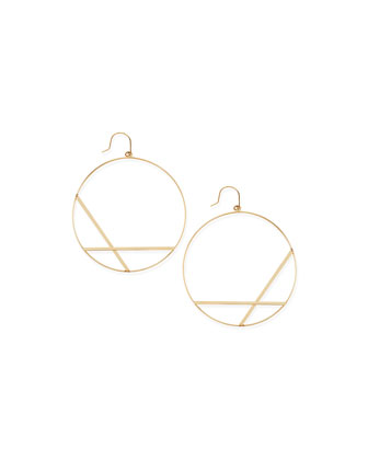 14k Large Affinity Hoop Drop Earrings