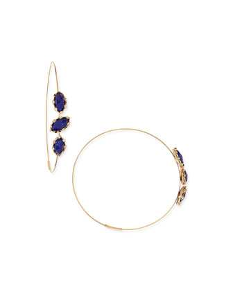 Splash Magic Large Lapis Hoop Earrings