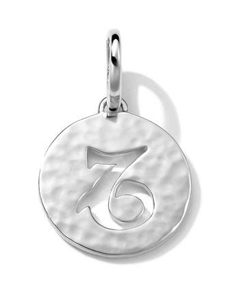 Sterling Silver Zodiac Charm, Capricorn