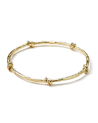 18k Gold Electroform 5-Knot Bangle