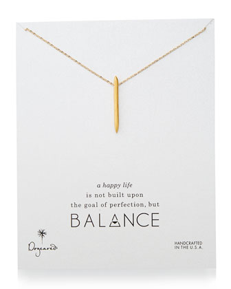 Balance Spiky Spear Pendant Necklace