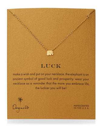 Luck Elephant Pendant Necklace
