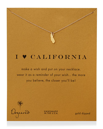 I Heart California Pendant Necklace